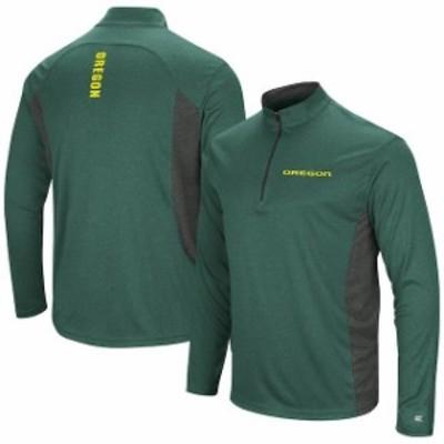 Colosseum コロセウム スポーツ用品  Colosseum Oregon Ducks Heathered Green/Gray Audible Windshirt Quarter-Zip Pullover Jacket