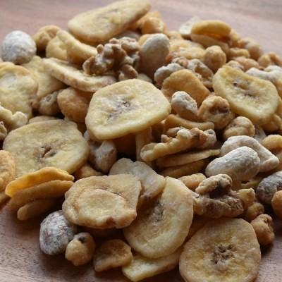 メープルミックスナッツ 200g カシューナッツ とうもろこし そら豆 アーモンド クルミ バナナ ネコポス配送
