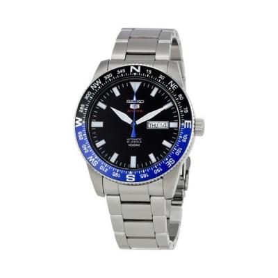 腕時計 セイコー Seiko 5 スポーツ オートマチック ブラック ダイヤル ステンレス スチール メンズ 腕時計 SRP659