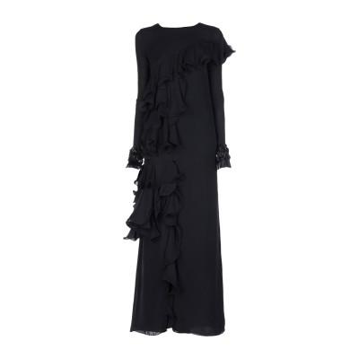 JOHANNA ORTIZ ロングワンピース&ドレス ブラック 2 シルク 100% ロングワンピース&ドレス