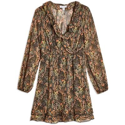 トップショップ TOPSHOP ミニワンピース&ドレス ブラック 8 ポリエステル 100% ミニワンピース&ドレス