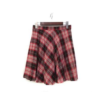 【中古】クランプリュス ミッシェルクラン KLEIN PLUS スカート 36 S チェック柄 プリーツ ミニ 美品 レディース 【ベクトル 古着】