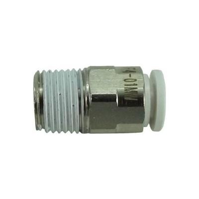 チヨダ ファイブメイルコネクタ W(白)4mm・R1/8 F401MW