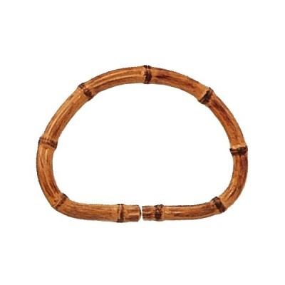 竹プラスチック持手 竹模様 むすび ベージュ 2本組 14cm×10cm P458
