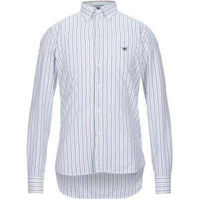 ヘンリーコットンズ HENRY COTTON'S メンズ シャツ トップス striped shirt White