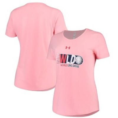 アンダーアーマー レディース Tシャツ トップス World Long Drive Under Armour Women's Performance T-Shirt Pink
