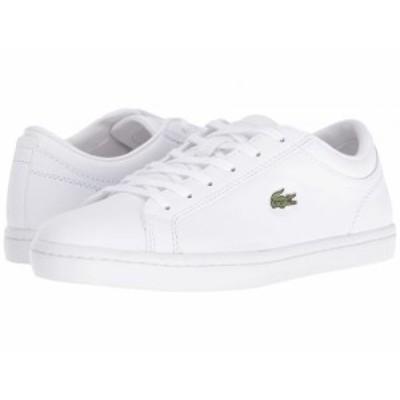 Lacoste ラコステ レディース 女性用 シューズ 靴 スニーカー 運動靴 Straightset BL 1 White【送料無料】