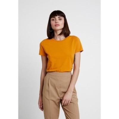 サムスサムス Tシャツ レディース トップス SOLLY TEE SOLID - Basic T-shirt - inca gold