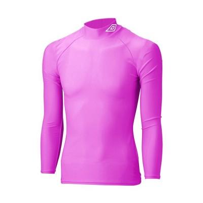 アンブロ(UMBRO) メンズ サッカー 長袖コンプレッションシャツ ショックピンク UAS9300 SPNK 長袖 ハイネック インナー アンダーウェア トレーニング