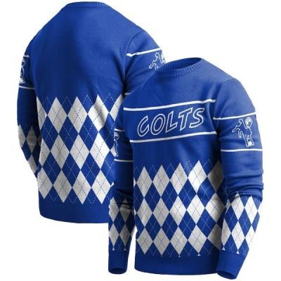 """メンズ セーター """"Indianapolis Colts"""" Retro Sweater - Royal"""