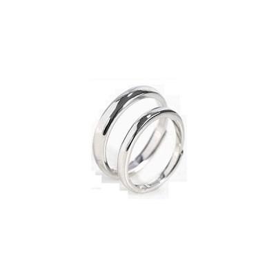 Rockyuペアリング 2個セット フリーサイズ メンズ レディース 指輪 シンプル フリー サイズ調整可能 仕上げ 純銀製 S925リング
