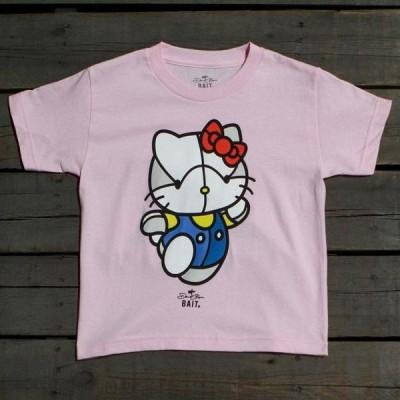 ユニセックス 帽子 キャップ BAIT x David Flores Hello Kitty Youth Tee (pink)