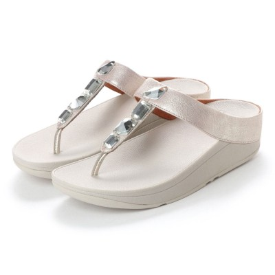 フィットフロップ FitFlop ROKA TOE-THONG SANDALS - LEATHER (Silver)