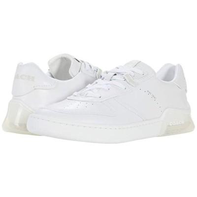 コーチ Citysole Leather Court メンズ スニーカー 靴 シューズ Optic White