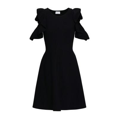 ミリー MILLY ミニワンピース&ドレス ブラック M レーヨン 75% / ポリエステル 15% / ポリウレタン 10% ミニワンピース&ドレス