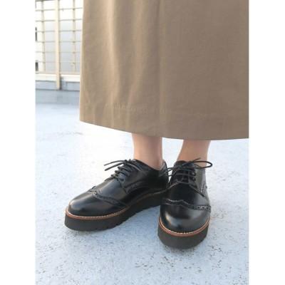 【エスメラルダ】 軽量ソールレースアップシューズ レディース ブラック 24.5cm Esmeralda