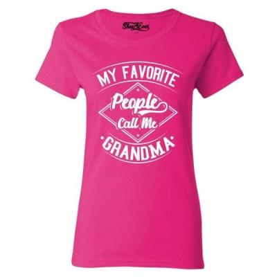 レディース 衣類 トップス Shop4Ever Women's My Favorite People Call Me Grandma Graphic T-Shirt Tシャツ