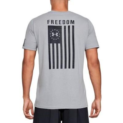 アンダーアーマー Tシャツ トップス メンズ Under Armour Men's Freedom Flag T-Shirt (Regular and Big & Tall) SteelMedHeather/Black