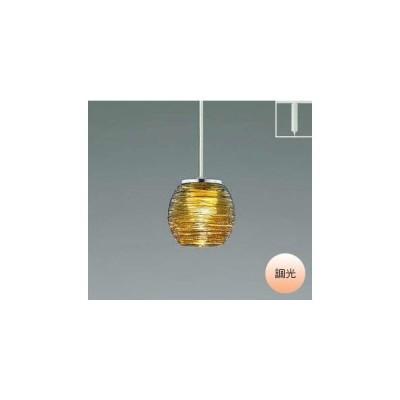 ペンダントライト照明器具 LED おしゃれ 洋室・リビング・ダイニング ダクトレール式 電球色 工芸ガラス アンバー色 クロムメッキ 調光
