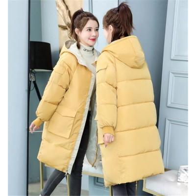 追加 限定発売 品質保証 韓国ファッション 冬 ダウンコート 韓国 ゆったりする 新 コート フード付き 厚みをつける トレンド 中・長セクション 2020