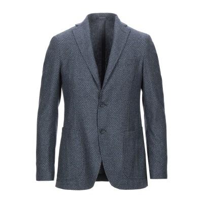 ANGELO NARDELLI テーラードジャケット ブルーグレー 48 バージンウール 55% / シルク 35% / ナイロン 10% テーラー