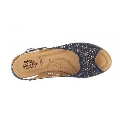 Spring Step スプリングステップ レディース 女性用 シューズ 靴 ヒール Saibara - Navy