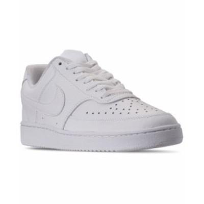 ナイキ メンズ スニーカー シューズ Men's Nikecourt Vision Low Casual Sneakers from Finish Line White