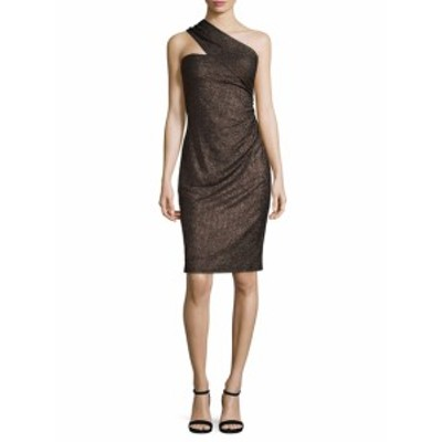 デイビッドマイスター レディース ワンピース Metallic One Shoulder Sheath Dress