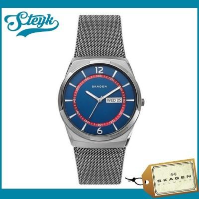 Skagen スカーゲン 腕時計 SKW6503 アナログ MELBYE メルビー メンズ ブルー×グレー