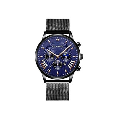 【新品・送料無料】COOKI Men's Watch Fashion Business Luxury Wristwatch Analog Quartz Watch Dr