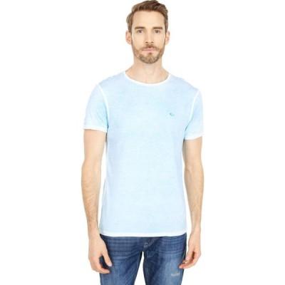 バッファロー デビッド ビトン Buffalo David Bitton メンズ Tシャツ トップス Kajo Short Sleeve Knit Tee Cyan Blue