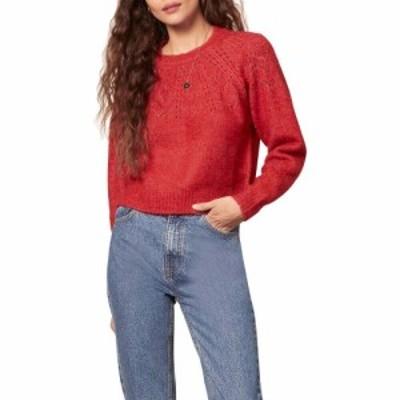ビービーダコタ BB Dakota レディース ニット・セーター トップス Turn Knit Up Sweater Crimson Red
