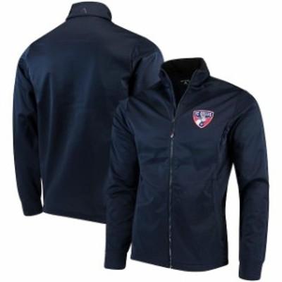 Antigua アンティグア スポーツ用品  Antigua FC Dallas Navy Golf Full-Zip Jacket