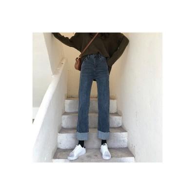 【送料無料】女性のジーンズ 秋冬 ストレート ルース ワイドパンツ 年 アンティーク   364331_A64617-2810419