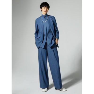 (styling//スタイリング)フロントプリーツスーツパンツ/レディース BLU