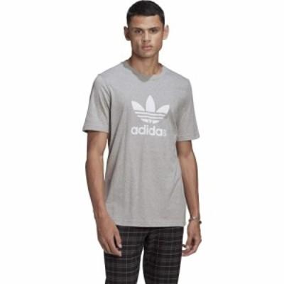 アディダス adidas Originals メンズ Tシャツ トップス Trefoil Tee Medium Grey Heather/White