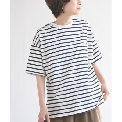 rps / 前後差ラウンドポケTee WOMEN トップス > Tシャツ/カットソー
