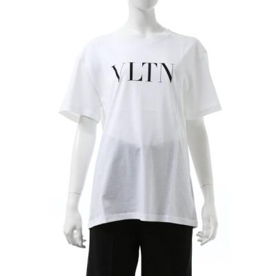 ヴァレンティノ Valentino Tシャツ 半袖 丸首 クルーネック レディース UB3MG07D3V6 ホワイト 2020年秋冬新作