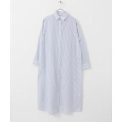 ITEMS URBANRESEARCH(アイテムズ アーバンリサーチ)ストライプシャツワンピース【お取り寄せ商品】
