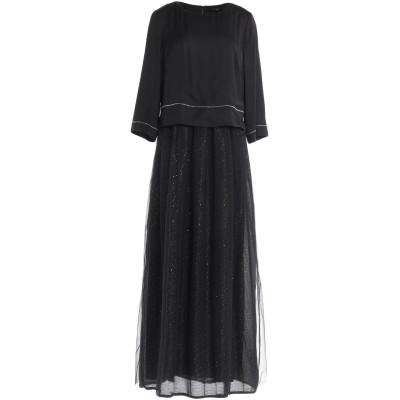 ペゼリコ PESERICO ロングワンピース&ドレス ブラック 42 ナイロン 100% / ポリエステル / コットン / レーヨン ロングワンピ