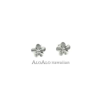 ハワイアンジュエリー ピアス シルバー925 プルメリア L サイズ