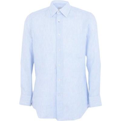 バグッタ BAGUTTA メンズ シャツ トップス linen shirt Sky blue