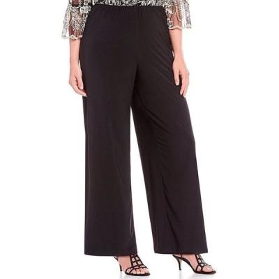 アレックスイブニングス レディース カジュアルパンツ ボトムス Plus Size Matte Jersey Wide Leg Long Pant
