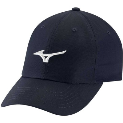 ミズノ Mizuno メンズ キャップ 帽子 Tour Lightweight Golf Hat - Small Fit Navy/White