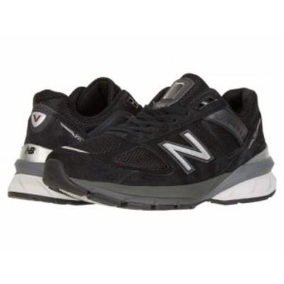 New Balance ニューバランス レディース 女性用 シューズ 靴 スニーカー 運動靴 Made in US 990v5 Black/Silver【送料無料】