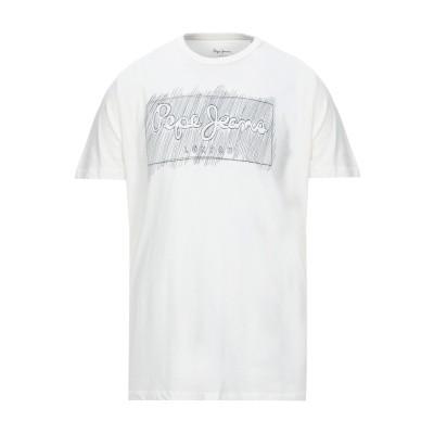 ペペ ジーンズ PEPE JEANS T シャツ ホワイト XS コットン 100% T シャツ