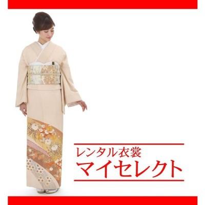 色留袖 レンタル 桂由美 ピンク 正絹 叙勲式 五つ紋 セット miit-20 桂由美 菊