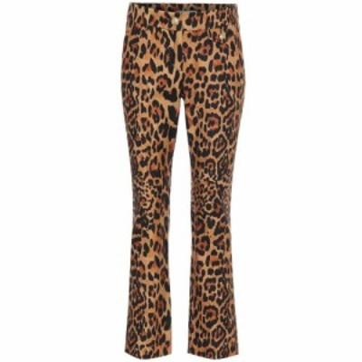 パコラバンヌ Paco Rabanne レディース ボトムス・パンツ leopard-print wool pants Leopard