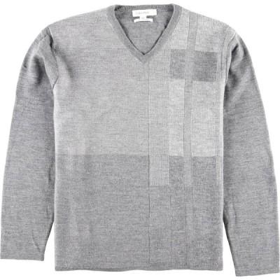 Calvin klein Vネック メリノウールニットセーター XL /wbj9944