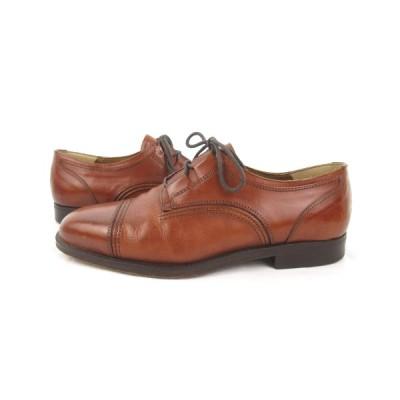 【中古】アルドモランディ aldo MORANDI ドレスシューズ ビジネス ラウンドトゥ 茶 ブラウン レザー 40 約25cm 革靴 イタリア製 メンズ 【ベクトル 古着】